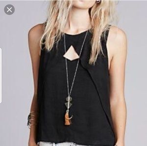 NWT Free People Crinkle Look Through Tank